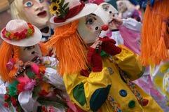 basel karnevalfasnacht switzerland Arkivfoto