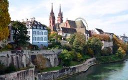 Basel, kościół, Münster Obrazy Royalty Free