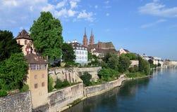 Basel - kościół, Münster am Rhein Obrazy Stock