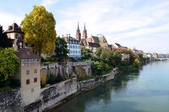 Basel kyrka Arkivfoto