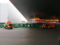 Basel miasta jarmarku tramwaj obraz stock