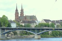 Basel minister, Swizerland, Basel fotografia stock