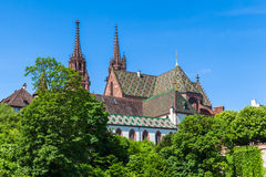 Basel Minster cathedral Stock Photo