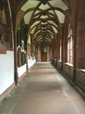 Basel Minster cloister. The cloister at Basel Minster, Switzerland public access Stock Photo