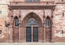 Basel Minster main gate Royalty Free Stock Photography