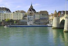 Basel-Mitten-Brücke Stockbilder