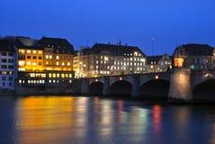 Basel-Mitten-Brücke Stockbild
