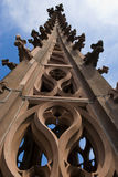 Basel Munster Cathedral. Top of the Basel Munster cathedral spire Royalty Free Stock Image