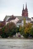 Basel Munster church. Above Rhine river in Basel, Switzerland Stock Photo
