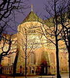 Basel at night 1. Cathedral in Basel. Night view Stock Photography