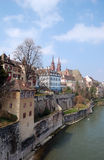 Basel. Old city view from the Rhine Royalty Free Stock Photo