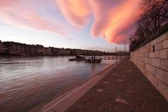 Basel Rhine ferry Royalty Free Stock Image