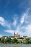 Basel With Rhine River Stock Photography