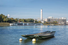 Basel, the Rhine river Royalty Free Stock Images