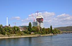 Basel - Roche Baustelle/Frühling 2014 Royaltyfri Bild