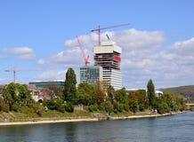 Basel - Roche Baustelle/Frühling 2014 Lizenzfreie Stockfotografie