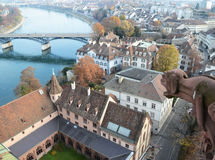 Basel Schweiz Arkivfoton