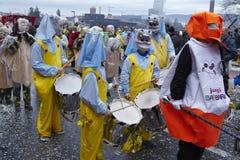 Basel (Schweiz) - karneval 2015 Arkivbilder