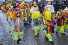 Basel (Schweiz) - karneval 2015 Royaltyfria Bilder