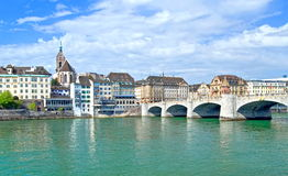 basel stad switzerland Royaltyfria Bilder