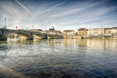 basel stad switzerland Royaltyfri Foto