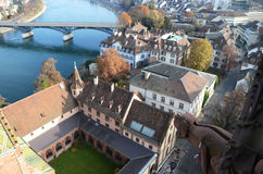 Basel, Switzerland. Aerial view of Basel, Switzerland royalty free stock photography