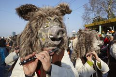 Basel (Switzerland) - Carnival 2014 Royalty Free Stock Photography