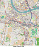 Basel Switzerland Europe hi res aerial view Royalty Free Stock Photo