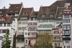 Basel, Switzerland. Basel houses along river rhine Royalty Free Stock Photography