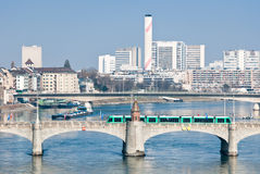 Basel, Switzerland With Middle Bridge Royalty Free Stock Photo