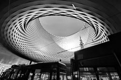 BASEL, SWITZERLAND - NOVEMBER 01 2014: Exhibition Center in the Royalty Free Stock Photo