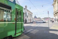 basel switzerland spårvagn Arkivfoton