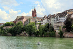 Basel in Switzerland. The Swiss city of Basel at the edge of the Rhine Royalty Free Stock Photos