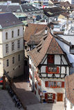 Basel, Switzerland. View of Basel architecture from Munster, Switzerland Stock Images