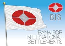 BASEL, SWITZERLAND, YEAR 2017 - Bank for International Settlements flag, illustration. BIC - Bank for International Settlements flag, illustration Stock Photography