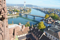 Basel from top. Basel und Rhine from top Royalty Free Stock Image