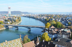 Basel from top Royalty Free Stock Photography