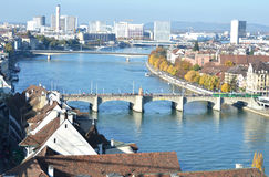 Basel from top Stock Images