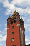 Basel Town Hall Tower Royalty Free Stock Photos