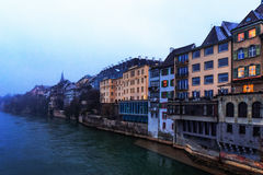 Basel-Wasser-Front Lizenzfreies Stockfoto