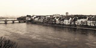 Basel-Wasser-Front Lizenzfreie Stockbilder