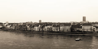 Basel-Wasser-Front Stockfoto