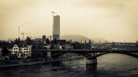 Basel-Wasser-Front Stockfotos