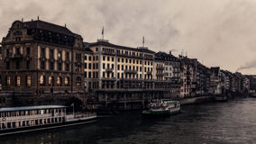 Basel Water Front Royalty Free Stock Photo