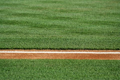 Baseline on a baseball field Royalty Free Stock Image