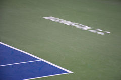 Baseline on center court at the Citi Open 2015 Stock Photos