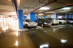 Basement car park Stock Images
