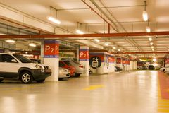 Basement Car Park Stock Photography