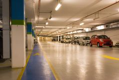 Basement Car Park Royalty Free Stock Photo