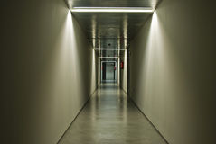 Basement corridor. Hallway of a basement of a hospital Royalty Free Stock Photography